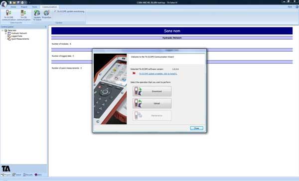 Synchronisation du logiciel avec le dernier équipement de mesures et d'équilibrage le TA-SCOPE