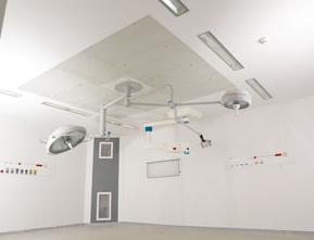 Plafond filtrant pour blocs opératoires