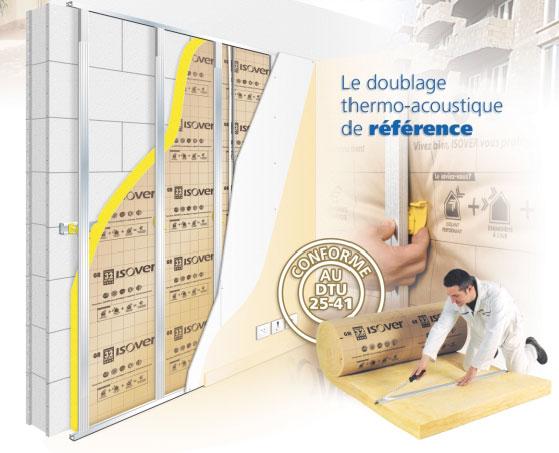 Isolation des murs par l int rieur sous ossature - Isolation thermique par l interieur ...