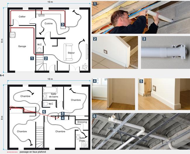 Installation d 39 une aspiration centralis e for Aspirateur maison centralise