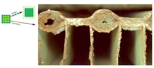 Dégats corrosion
